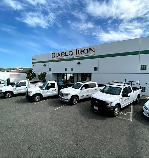 Diablo Iron's metal fabrication warehouse